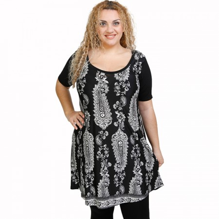 A21-7476 Evaze Blouzedress with pattern