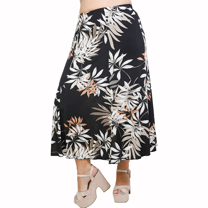 A21-7560 Jersey Closh Skirt with elastic band