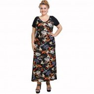 A21-7723FK Long Jersey Dress with pattern