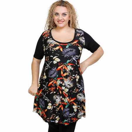 A21-7776 Evaze Blouzedress with pattern