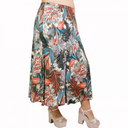 A21-7860 Jersey Closh Skirt with elastic band - Petrol