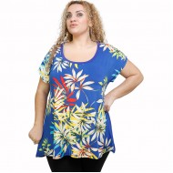 A21-8009 Alpha Blouse with pattern
