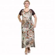 A21-8423FK Long Jersey Dress with pattern