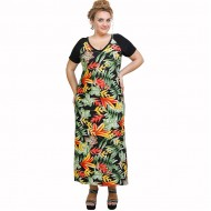 A21-8823FK Long Jersey Dress with pattern