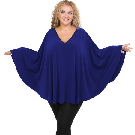 B20-112 Jersey Umbrella Blouse - Blue Roi