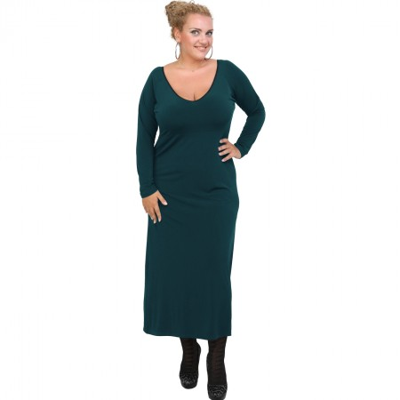 B20-123FK Long Jersey Dress - Petrol