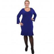 B20-125F Jersey Dress with volan hem - Blue-roi