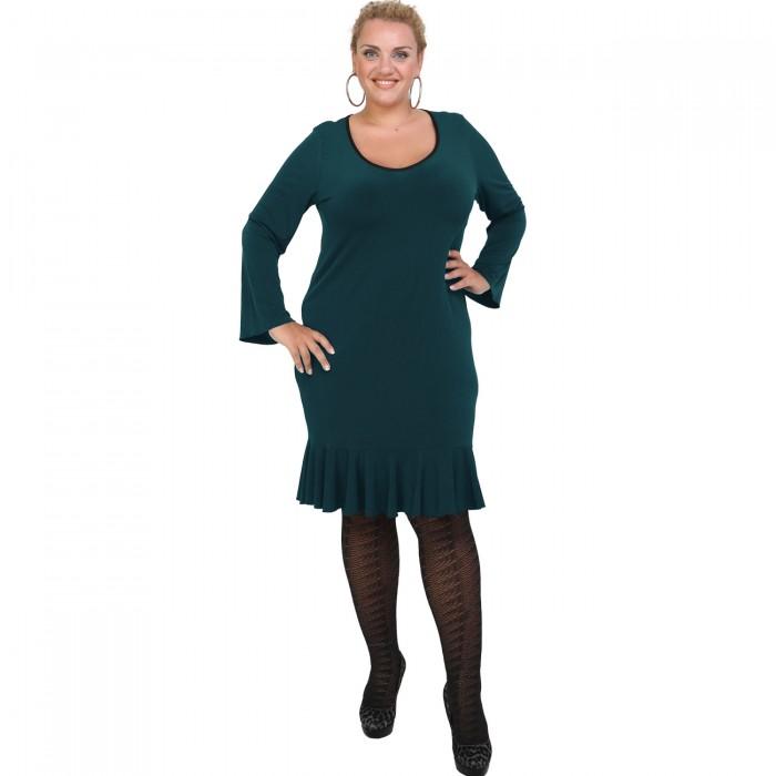 B20-125F Jersey Dress with volan hem - Petrol