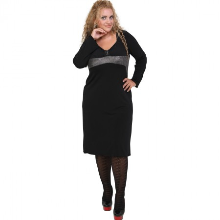B20-162F Jersey Evaze Dress with pinch-tie design