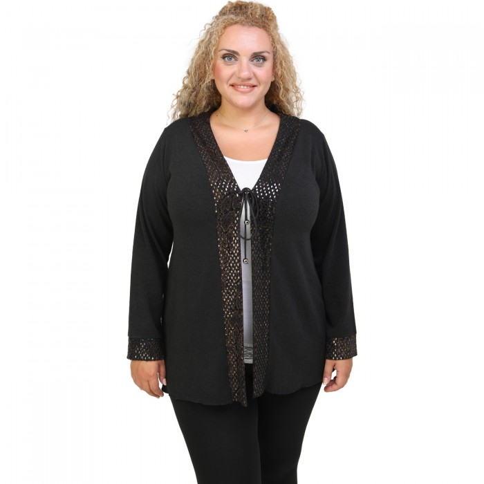 B20-2440 Knitted cardigan in classic line