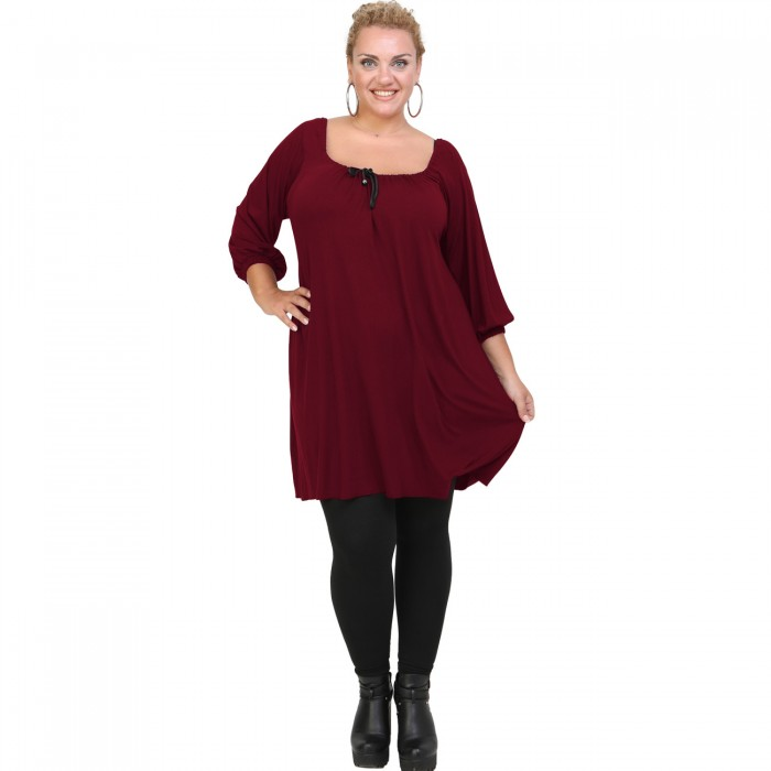 B20-245 Blousedress in bordeaux