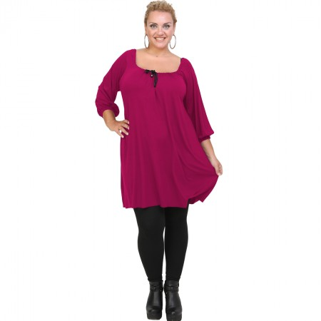 B20-245 Blousedress in fuchsia