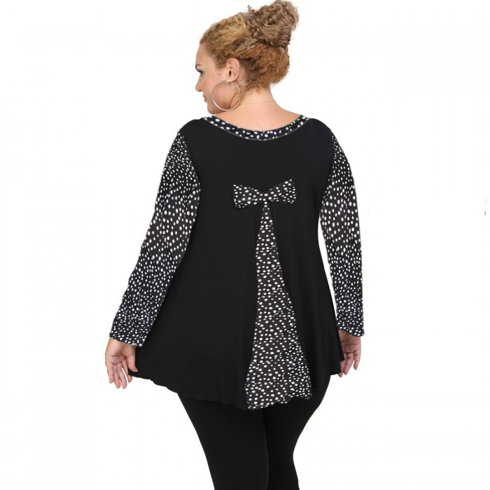 B20-5289 Evaze Blouse with bow on the back