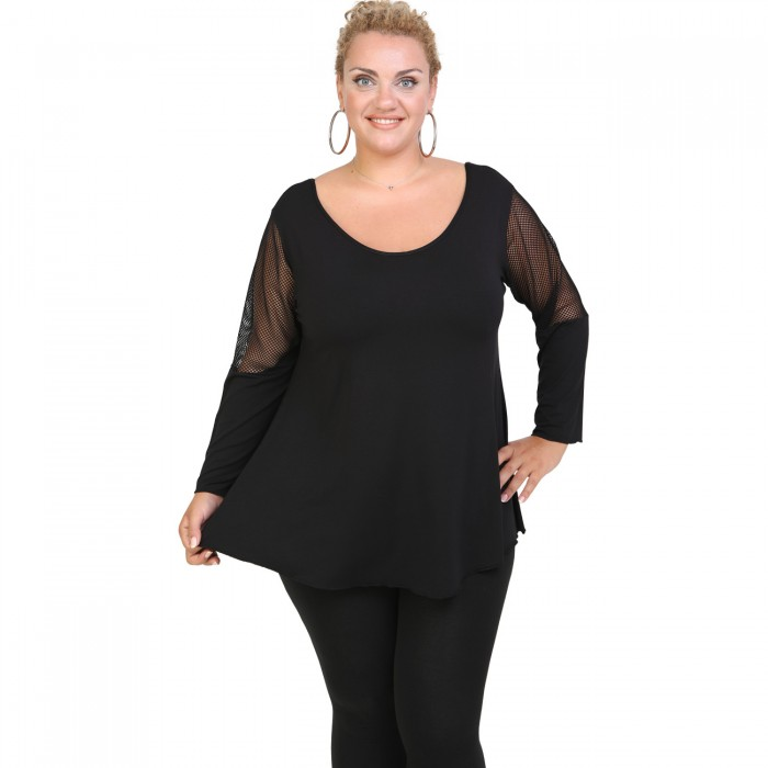 B20-5513 Alpha Blouse with net