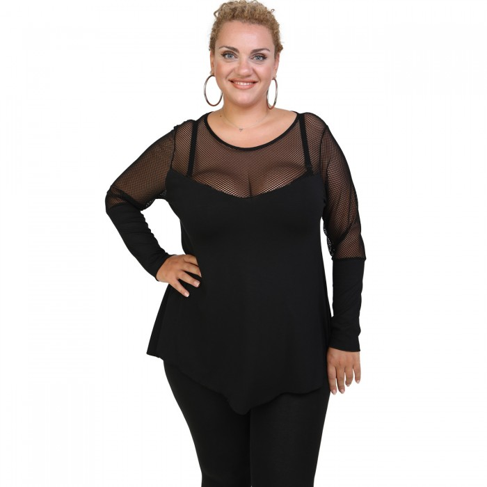 B20-5518 Evaze blouse with net