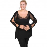 B20-5526 Alpha Blouse with net