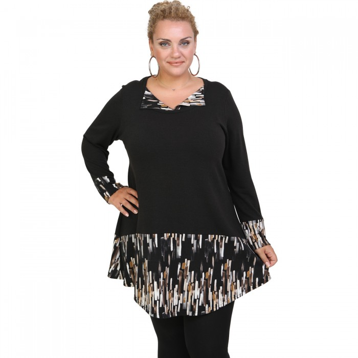 B20-5620 Knitted Blousedress with animal print