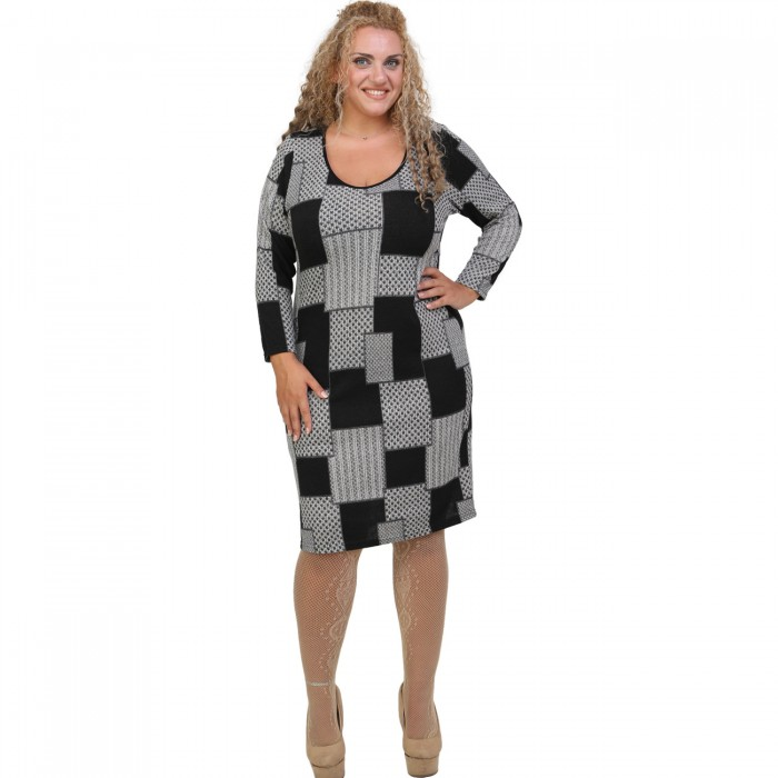 B20-5800V Knitted Dress in classic line