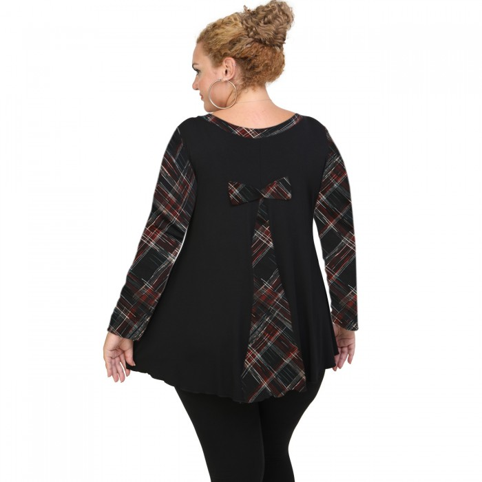 B20-5989 Evaze Blouse with bow on the back