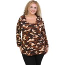 B20-6308 Knitted blouse with camo print
