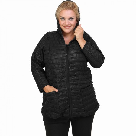 B20-6629 Jacket with hood - Black