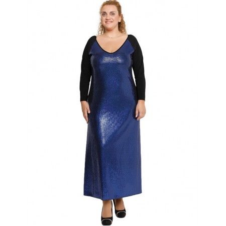 B19-2223FK Long Dress - Royal Blue
