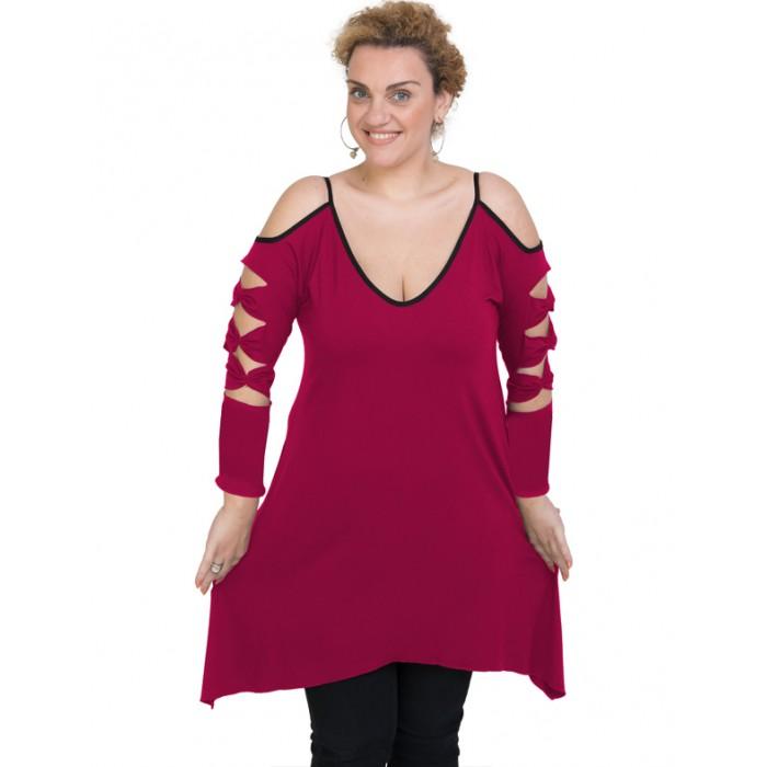 B19-282 Evaze blousedress - Fuchsia