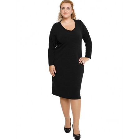 B19-300V Knitted dress - Black