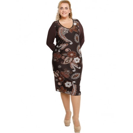 B19-3400V Dress with pattern