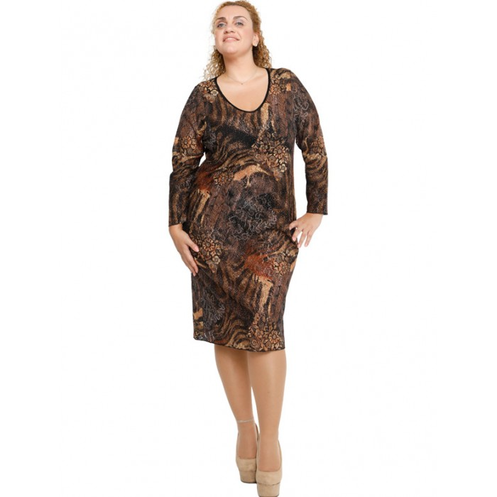 B19-600V Dress with pattern and lace