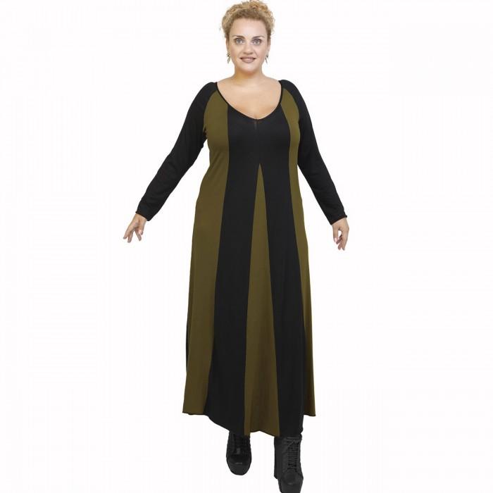 B21-296 Long dress - Khaki