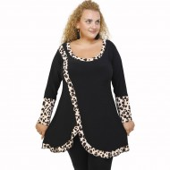 B21-1397 Blousedress with pattern