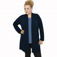 B21-142 Classic long cardigan - Navy Blue