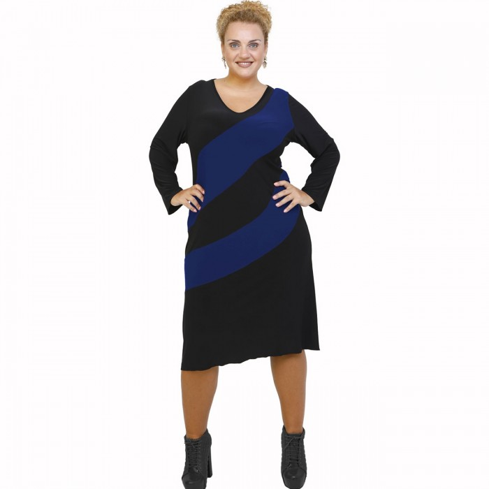 B21-192 Classic dress - Royal Blue