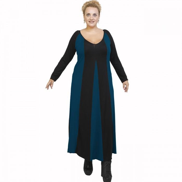 B21-296 Long dress - Petrol