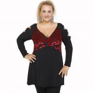 B21-4581N Evaze blouse - Bordeaux