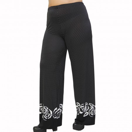 B21-4767 Culotte with elastic band and pattern