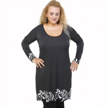 B21-4776 Blousedress with pattern