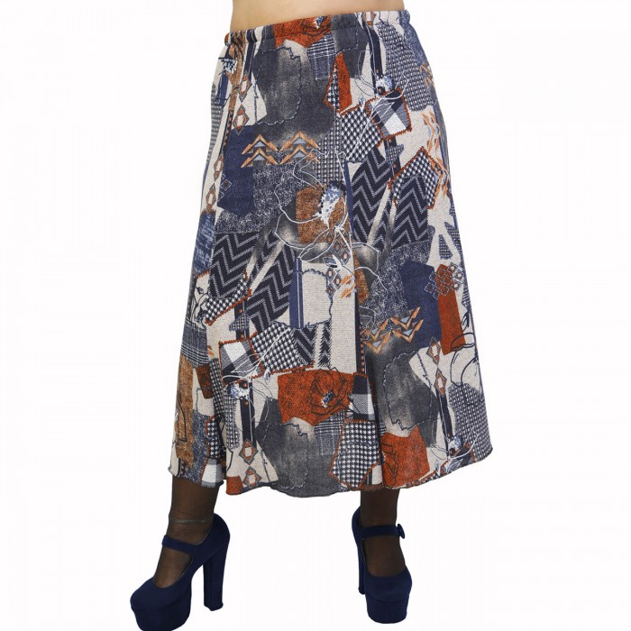 B21-5760 Knitted closh skirt with elastic band