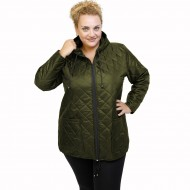 B21-6629 Jacket with zipper and hood - Cypress Green