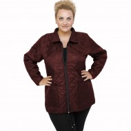 B21-6629G Jacket with zipper and collar - Bordeaux