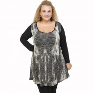 B21-8976 Blousedress with pattern